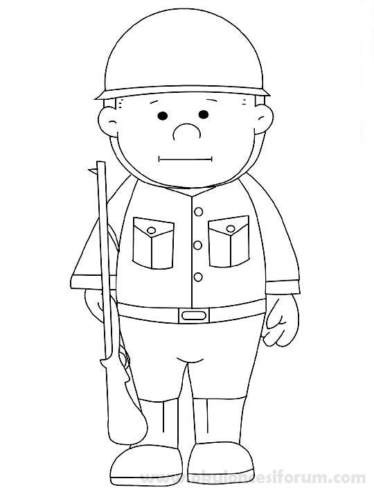Asker Boyama Ve Etkinlikleri Okul Oncesi Askeri Ve Boyama Sayfalari