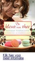 De kleur van thee - Hannah Tunnicliffe.  Na haar verhuizing naar Macau voor het werk van haar man opent een Engelse vrouw een koffiebar om in het reine te komen met haar verleden en een nieuw doel in haar leven te vinden. Binnenkort bij Theek5.