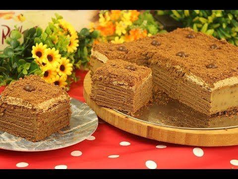 كيكة باردة في 10 دقائق بدون فرن بدون بيض كيك نسكافيه البارد مع رباح محمد الحلقة 742 Youtube Cake Desserts Food Desserts