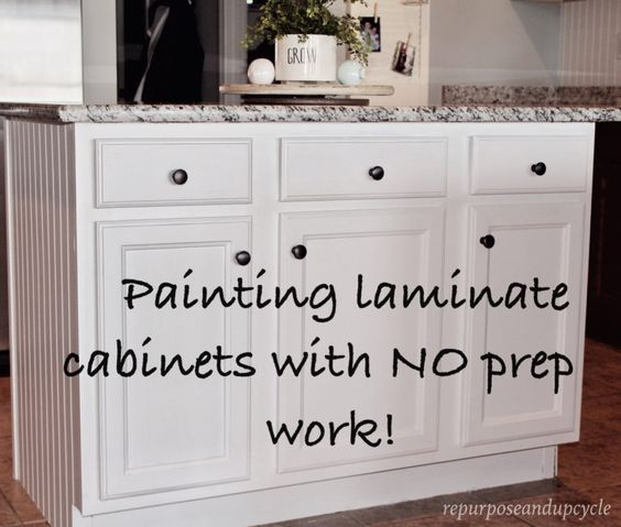 How To Build Kitchen Cabinets Cheap: EASY TUTORIAL ON HOW TO PAINT CHEAP LAMINATE CABINETS WITH