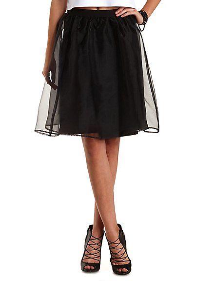 Organza Full Midi Skirt: Charlotte Russe