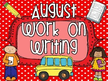 Everything you need for the month of August! This packet includes everything for a