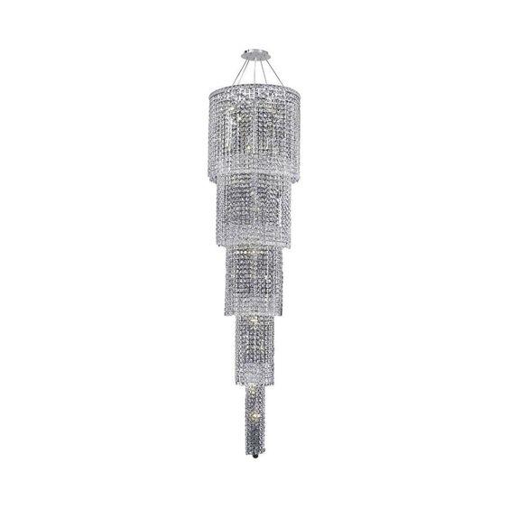 Elegant Lighting 22-Light Chrome Chandelier with Clear Crystal