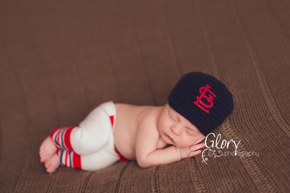 Baby Boy The Original baseball set cap and pants by LandyKnits