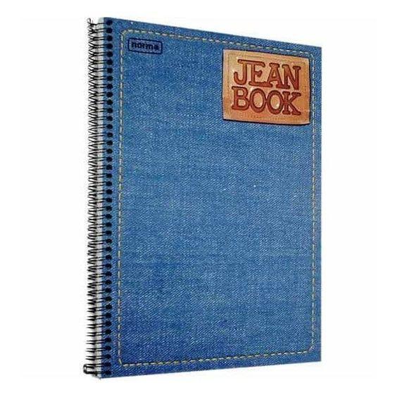 Papelaria nostálgica caderno jean book