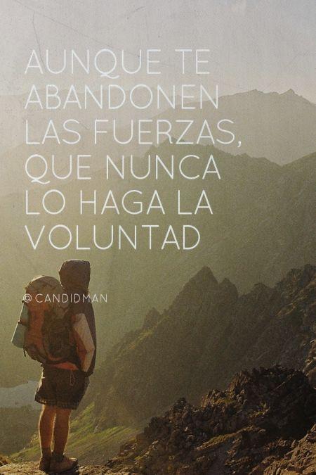 #dia a día, Aunque te abandonen las fuerzas , que nunca lo haga la Voluntad