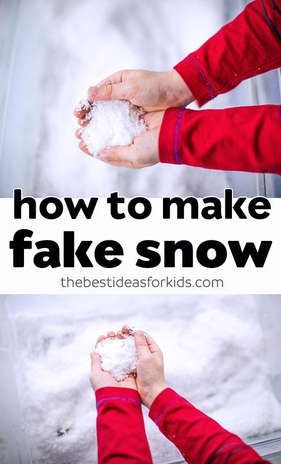 How To Make Fake Snow The Best Ideas For Kids Fake Snow Winter Activities For Kids How To Make Snow