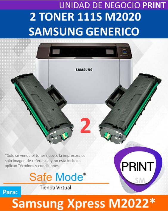 2 Toner para Samsung Xpress M2022 [Nuevo]