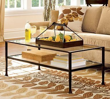 tanner coffee table pottery barn home is where my heart is pinterest coffee tables. Black Bedroom Furniture Sets. Home Design Ideas