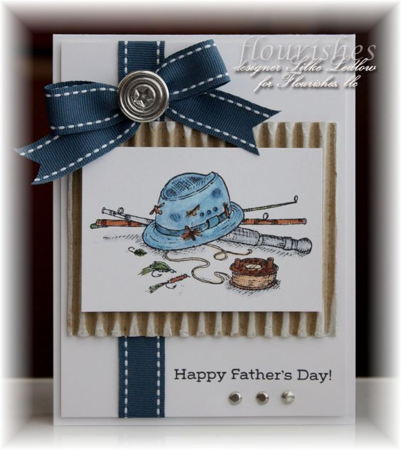 """A great """"guy"""" card!-think I would change the bow to perhaps a brad/twine tie"""