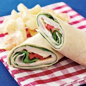 Make an easy wrap for a delicious brown bag lunch or a no-cook meal option for this week's dinner menu. Pair with a side salad or a carrot slices and you've got an easy, satisfying meal.