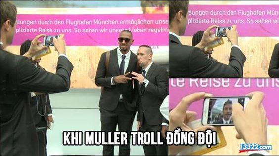 Ảnh chế: Khi Muller troll đồng đội, Real gặp khó với màu vàng và Ibra dọa bẻ gãy chân Pogba