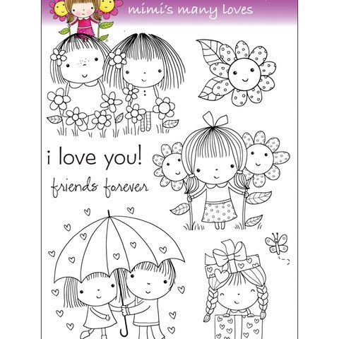 Clear Stamps 5 U0022x7 5 U0022 Sheet Mimi U0027s Many Loves Penny Black Clear Stamps Penny Black Stamps