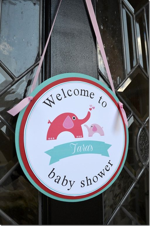 Elephant Shower Welcome Sign