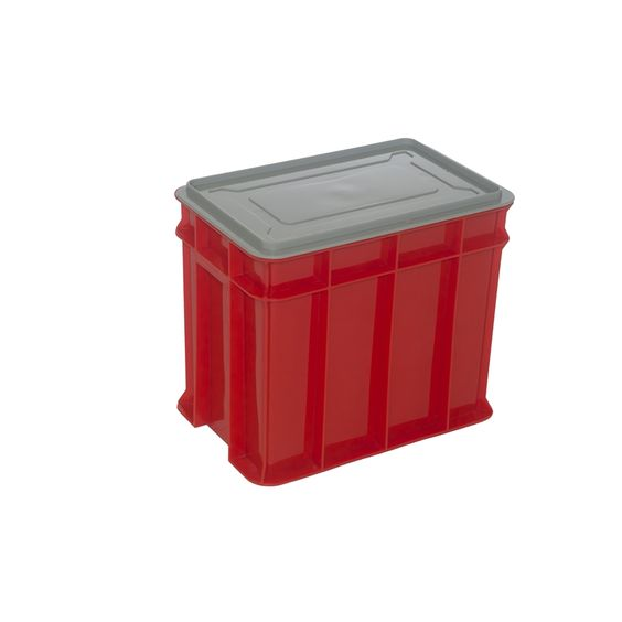 Award 9L Multistack Red Storage Crate With Lid