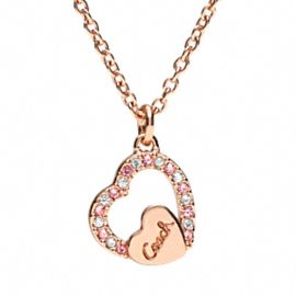 PAVE COACH SCRIPT HEART NECKLACE- um, love this. 78.00