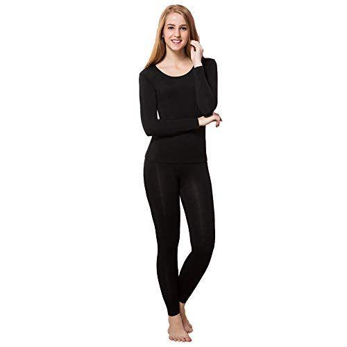 Womens Ultra Soft Thermals Underwear Bottom Base Layer Long Johns Legging Pants