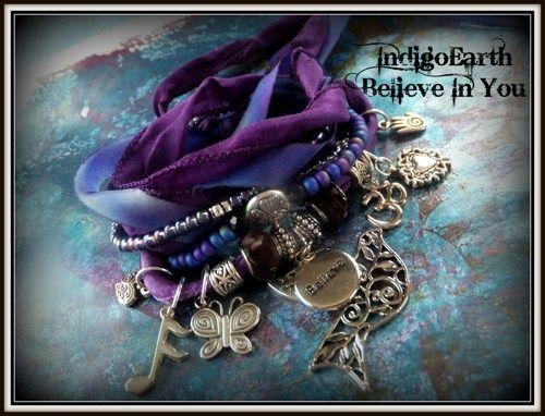 IndigoEarth~ Believe In You~ Gypsy Wrap Bracelet | IndigoEarth - Jewelry on ArtFire