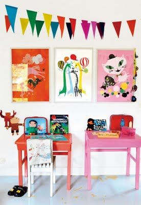 A colorful room for kids.