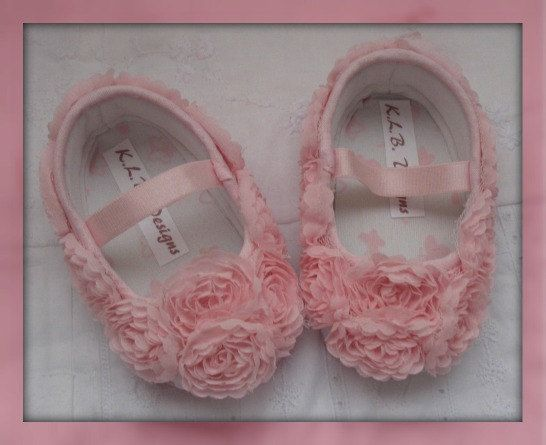 Pink Rose baby shoes