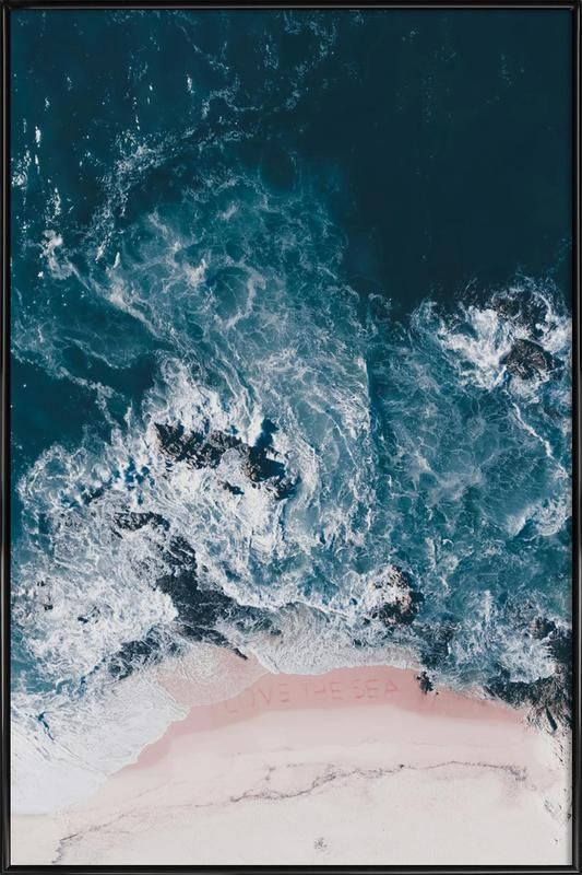 I Love The Sea As Poster In Standard Frame By Ingrid Beddoes