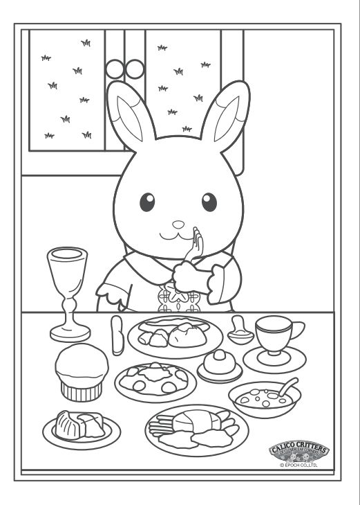 Fun calico critter coloring activity on for Little critter coloring pages