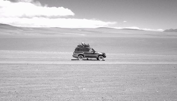 Wandering in the bolivian desert