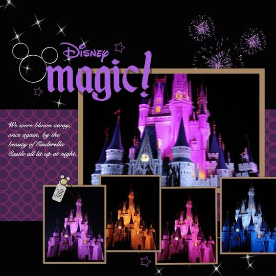 5 print layout.  Disney castle layout