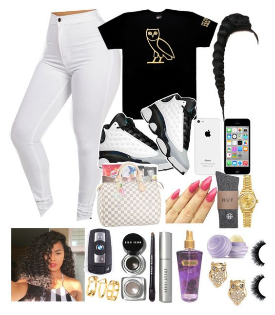 """""""Drake concert"""" by jordanv ❤ liked on Polyvore featuring October's Very Own, Retrò, Rolex, BMW, H&M, Bobbi Brown Cosmetics, Victoria's Secret, Eos and Kate Spade"""