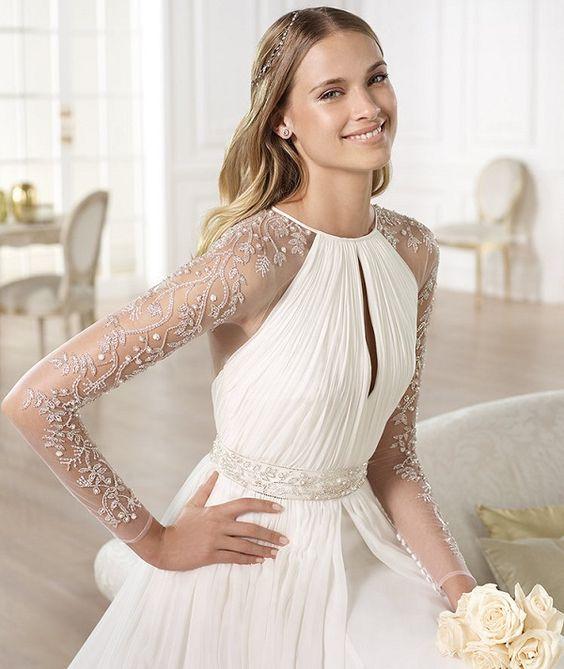 Confira inspirações para subir no altar num vestido de noiva com manga comprida! Modelos ultra românticos, clássicos e atemporais te esperam no post de hj!