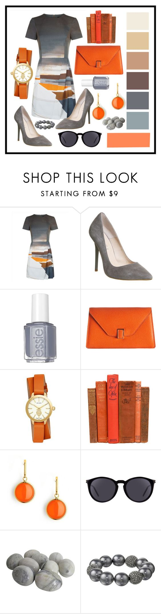 """""""UniqueDress"""" by alannahilll ❤ liked on Polyvore featuring Jaeger, Office, Essie, Valextra, Tory Burch, Syna, Yves Saint Laurent and Kenneth Jay Lane"""