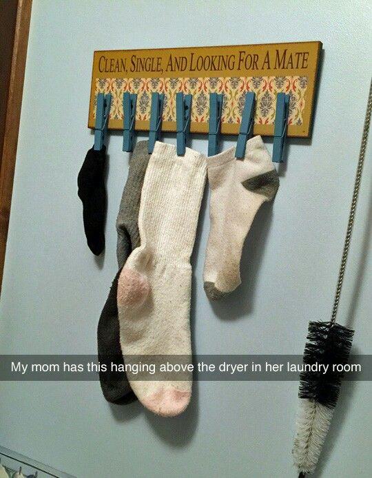 Suporte de encontro para meias sem par.