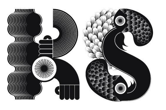 An Illustrated Alphabet Of Letters That Look Like Freaky Monsters - DesignTAXI.com