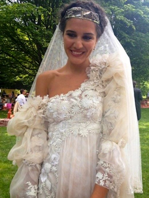 love her dress! Margherita Missoni in her wedding dress