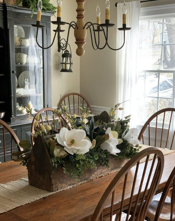 Centerpiece Ideas For The Dining Table You Can Make In Minutes Stacy Ling In 2021 Farmhouse Table Decor Farmhouse Table Centerpieces Dining Room Centerpiece
