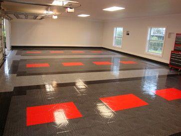 Cool garages garage flooring and flooring ideas on pinterest for Cool garage floors