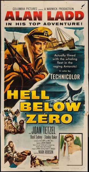 The Big Land Alan Ladd movie poster | Hell Below Zero (Columbia, 1954)Starring Alan Ladd(Heritage Auctions ...