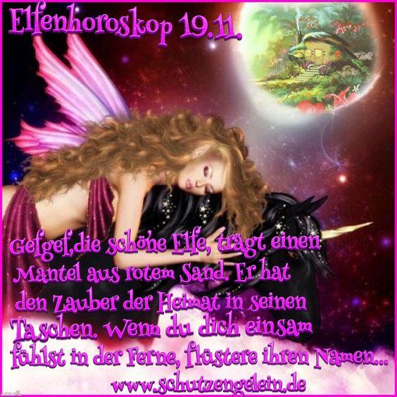 Elfen_Horoskop_19.11._Mantel_aus_rotem_Sand,_Zauber_der_Heimat,_einsam_in_der_Ferne,_www.schutzengelein.de