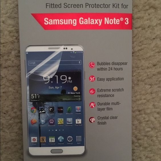 Screen protector 2pk Maximum strength Galaxy note 3 screen protection Other