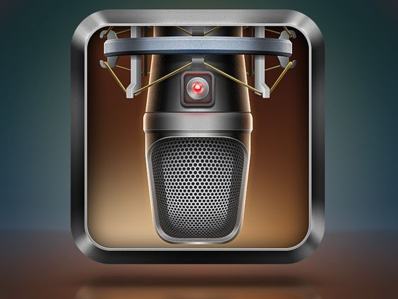 pinterest.com/fra411 #Apps #Icon - Voice Studio App Icon by Dart 117