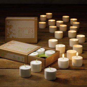#design3000 Bio-Teelichter in edlen, hochwertigen Bone China-Gefäßen. Aus 100% kontrolliert biologischem Anbau.