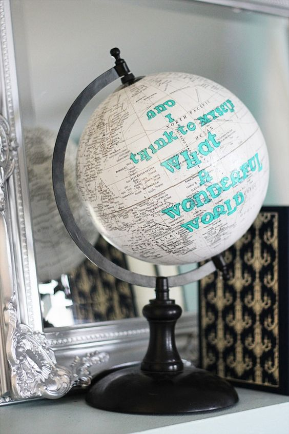 Personalized Globe DIY