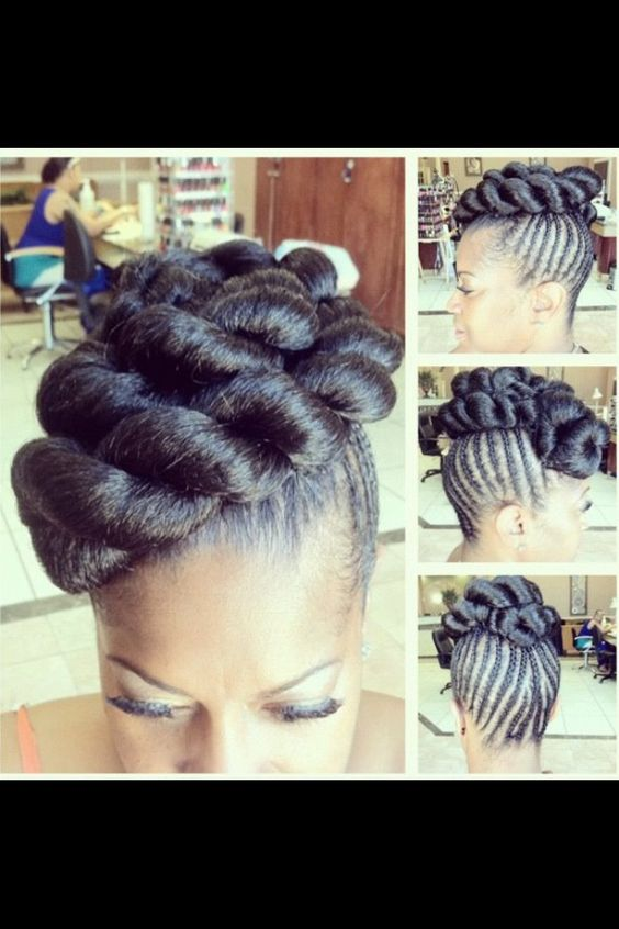 braided mohawk natural hair protective styles weaves
