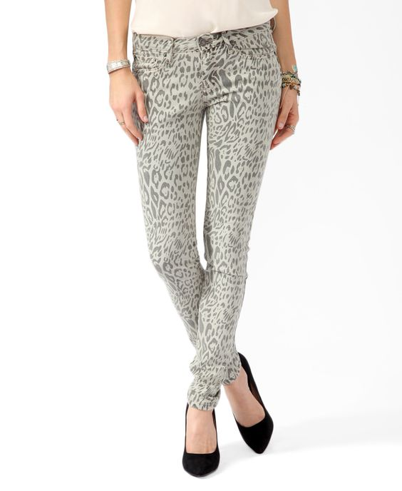 Animal Print Skinny Jeans | FOREVER21 - 2000046177