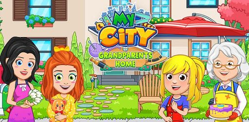 مرحب ا بك في لعبة My City منزل الجد والجدة حيث جدتك وجدك في انتظارك هذه اللعبة بها الكثير من الغرف والمواقع Town Games City Games Create Your Own Adventure