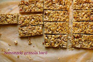 Homemade healthy coconut granola bars