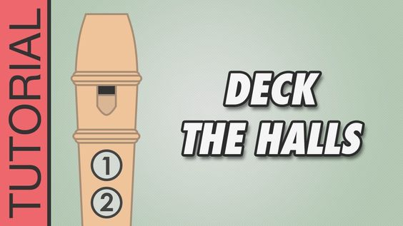 Deck The Halls Recorder Notes Tutorial Christmas Songs