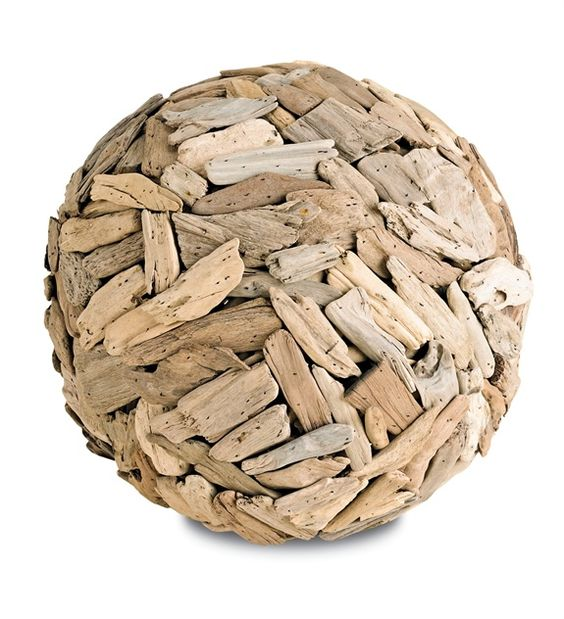 Driftwood Ball Accent Décor | Currey and Company