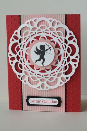 Stampin Up! doily + cupid