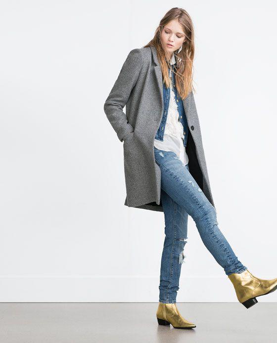 MASKULINER MANTEL von Zara